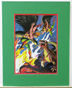 Vintage 1978 Hawkman And Hawkgirl Pin Up Poster Dc Matted