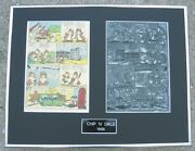 Walt Disneyand039s Chip And039nand039 Dale - Vintage 1956 Printing Plate And Page One-of-a-kind