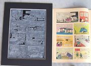 Walt Disneyand039s Donald Duck Vintage 1962 Printing Plate And Page - One-of-a-kind