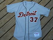 Kenny Rogers Detroit Tigers Game Used Jersey 2006 Signed Program Beckett Coa