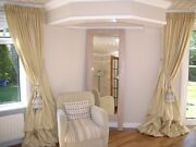 Custom Made Pure Silk Dupioni Curtains In Any Color, Size, Top, Lining.