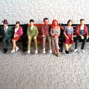 28 Pcs G Scale Passengers 132 Painted Figures All Seated People 7 Poses