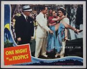 One Night In The Tropics Very First Abbott And Costello 1940 Lobby Card