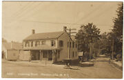 Pleasantville Ny - Ossining Road And Fountain - Rppc Postcard