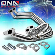 Stainless 1-pc Header+up Pipe For 02-07 Wrx/sti 2.5l Ej25 Gd Gg Exhaust/manifold
