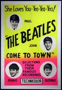 The Beatles Come To Town Rare 1963 1-sheet On Linen