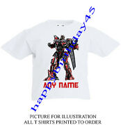Sentinel Prime Personalised Kids T Shirt Ages 2 To 11 Transformers