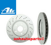 Set Of 2 Ate Front Brake Rotors For Mercedes Models With Sport Package