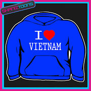 I Love Heart Vietnam Hoodie All Sizes And Colours