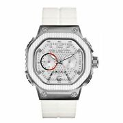 Marc Ecko The Tractor White Silicone Mens Watch E16509g1 New Low Inter Shipping