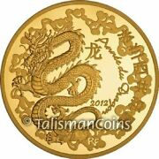 France 2012 Year Dragon Lunar 50 Euro Gold Proof In Full Ogp Mintage Just 1000