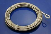 25and039 X 1/4 Stainless Replacement Cable For Pwc Jetski Waverunner Lift Winches