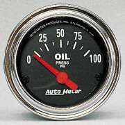 Auto Meter 2522 Traditional Chrome Analog Gauges Oil Pressure 0-100 Psi
