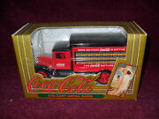 Coca-cola 1930s Kenworth Red And Yellow Delivery Truck Diecast Coin Bank