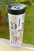 Starbucks Coffee Company 2011 2012 16oz Numbers Travel Tumbler Double Insulated