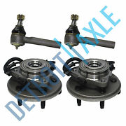 2 Front Wheel Bearing + 2 Tie Rod 2002 2003 2004 2005 Ford Explorer Mountaineer