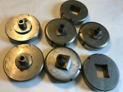 Lot 5 Sets Strippit Thick Turret Square Punches Dies1.250wt 1.5001.268ad