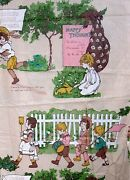 Vtg 36w Polished Cotton Home Decor Fabric Kate Greenaway Lg Scale Bty 1 Yard