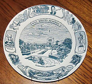 Vintage American Ironstone Collector Plate Will Rogers Memorial Claremore, Ok