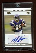 Adrian Peterson 2007 Topps Rc Auto /25 Gold Rc Autograph Mint Vinkings Rb Mvp