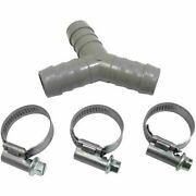 Washing Machine Drain Hose Y Piece Joiner Connector Kit