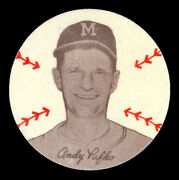 1954 Preferred Products Douglas Felts Andy Pafko Milwaukee Braves