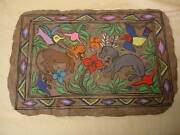 Mexican Amate Bark Paintings Vintage 1968