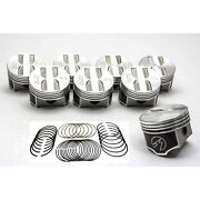Speed Pro/trw Chevy 327 Forged Flat Top Coated Pistons+moly Rings Set/kit +.030