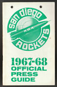 1967-68 First Year San Diego Rockets Official Press Media Guide Pat Riley Rare