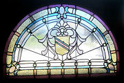 Antique American Stained Glass Window 17 Jewels Architectural Salvage