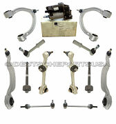 Mercedes W221 Suspension Compressor Front Upper Lower Control Arm Ball Joint Kit