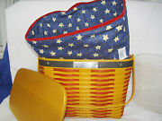 Longaberger Basket Star Liner Tie On Protector Lid Whistle Stop Collectors Club