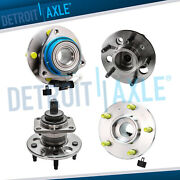 4pc Front And Rear Wheel Hub And Bearing Assembly For Gm - Fwd W/abs
