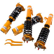 Coilovers Shock Absorbers Kits For Subaru Wrx Gc8 93-01 Adj Damper Coil Springs