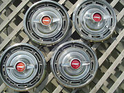 Vintage 1966 66 Buick Skylark Special Hubcaps Wheel Covers Center Caps Classic
