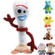 Toy Story 4 Plush Doll Forky Ducky Horse Bunny Woody Buzz Soft Stuffed Kids Gift