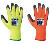 144 Pairs Of Portwest A140 Thermal Grip Gloves Latex Palm Hi Vis - All Sizes