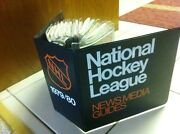 Mint 1979-80 Nhl Media Guides And Binder