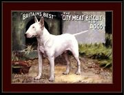 English Bull Terrier Dog Dogs Puppy Puppies Advertisement Art Vintage Poster