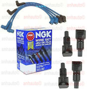 4-ignition Coil's And Ngk Japan Wire Set Mazda Rx8   2004 To 2008