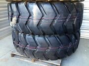 Set Of 2 Tires 23.5x25 Tires 24 Ply E3/l3 Loader/ Earthmover
