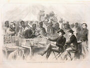 Harper's Weekly Page Civil War Paying The Negro Teamsters Of Union Army 1863