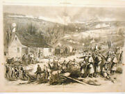 Harper's Weekly Page Civil War Surgeon's Table Strewed W/ Amputated Limbs 1862