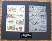 Mickey Mouse And Goofy - 1956 Printing Plate And Page Mickey Mouse 48 Pg 2