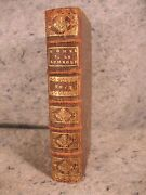 Rare Antique Leather Book Over 300 Years Old 1689 Homelies Apotres French Paris