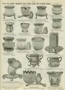 Catalog Page Ad Figural Fancy Silver Tooth Pick Match Holders Celery Stand 1907