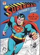 Superman Coloring Book - In Luthor's Lost Land Nm 1975 Western Pub File Copy