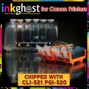 Canon Compatible Ciss Mp630 Mp640 + Chips 520 521 Cartridges Ink Supply System