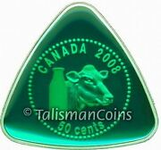 Canada 2008 Milk Delivery Dairy Token 50¢ Silver Triangle Enamel Prf In Full Ogp