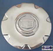 And03905-and03906 Cadillac Sts Used Cap Raised Chrome Logo 6-1/2 Dia. 560-04587